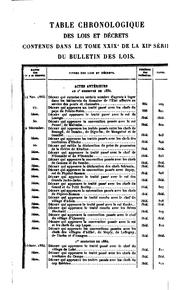 Bulletin des lois by France