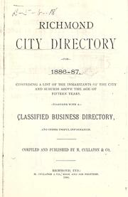 Cover of: Richmond, Indiana, city directory. |