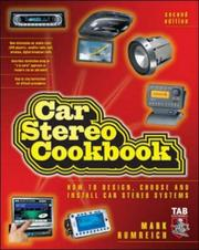 Cover of: Car Stereo Cookbook (TAB Electronics Technician Library)