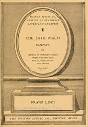 Cover of: 137th Psalm | Franz Liszt