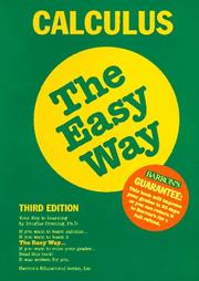 Cover of: Calculus the easy way | Douglas Downing