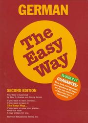 Cover of: German the easy way | Paul G. Graves