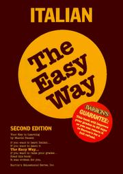 Cover of: Italian the easy way | Marcel Danesi