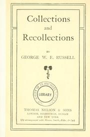 Cover of: Collections and recollections | George William Erskine Russell