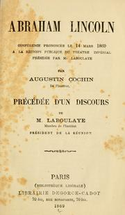 Cover of: Abraham Lincoln
