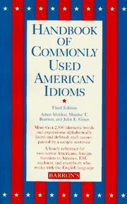 Cover of: Handbook of commonly used American idioms