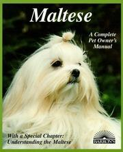Cover of: Maltese (Complete Pet Owner