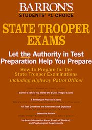 How to prepare for the state trooper examinations by Donald J. Schroeder