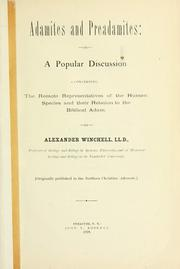 Cover of: Adamites and Preadamites | Alexander Winchell