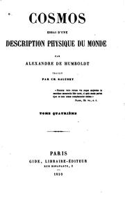Cover of: Cosmos: essai d'une description physique du monde
