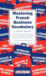 Cover of: Mastering French business vocabulary