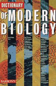 Cover of: Dictionary of modern biology