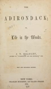 Cover of: The Adirondack, or, Life in the woods