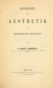 Cover of: Aesthetik
