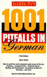 Cover of: Barron's 1001 pitfalls in German