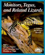 Cover of: Monitors, tegus, and related lizards | Richard D. Bartlett