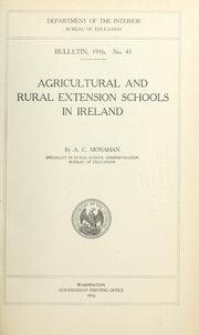 Cover of: Agricultural and rural extension schools in Ireland