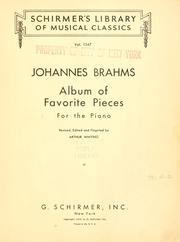 Cover of: Album of favorite pieces for piano | Johannes Brahms