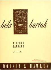 Cover of: Allegro barbaro