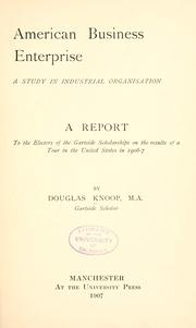Cover of: American business enterprise | Knoop, Douglas.