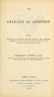 Cover of: The Anabasis of Xenophon | Xenophon