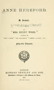Cover of: Anne Hereford | Mrs. Henry Wood