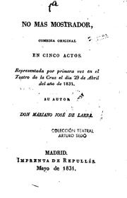 Cover of: No más mostrador: Comedia original en cinco actos