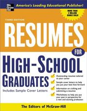 Cover of: Resumes for High School Graduates, 3e (Professional Resumes Series) | McGraw-Hill