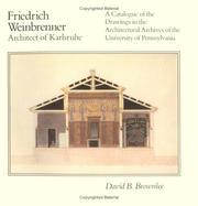 Cover of: Friedrich Weinbrenner, architect of Karlsruhe