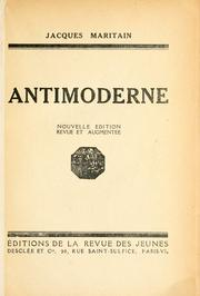 Cover of: Antimoderne
