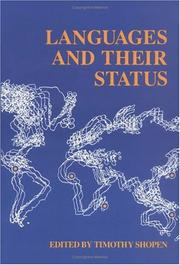Cover of: Languages and their status |