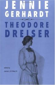 Cover of: Jennie Gerhardt (University of Pennsylvania Dreiser Edition) |