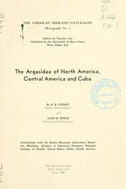 Cover of: The Argasidae of North America, Central America and Cuba