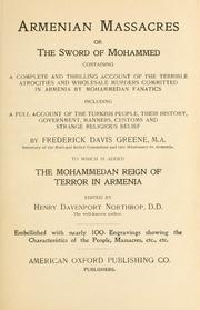 Armenian massacres by Frederick Davis Greene