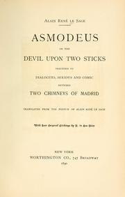 Cover of: Asmodeus: or, The devil on two sticks.