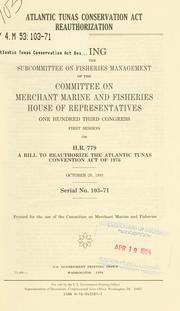 Cover of: Atlantic Tunas Conservation Act reauthorization