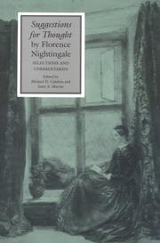 Cover of: Suggestions for thought | Florence Nightingale