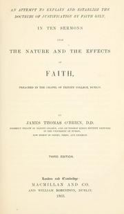 Cover of: An attempt to explain and establish the doctrine of justification by faith only