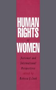 Cover of: Human Rights of Women
