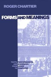 Cover of: Forms and meanings