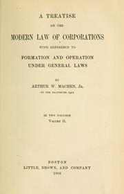 treatise on the modern law of corporations