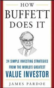 Cover of: How Buffett Does It (McGraw-Hill Professional Education) | James Pardoe
