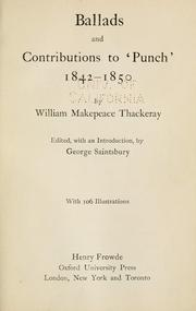 Cover of: Ballads and contributions to 'Punch' 1842-1850
