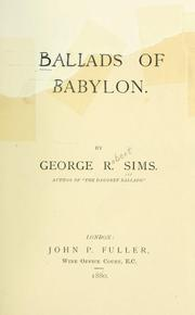 Cover of: Ballads of Babylon