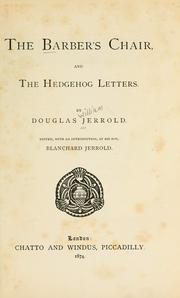 Cover of: The barber's chair, and the hedgehog letters