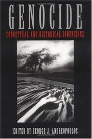 Cover of: Genocide (Pennsylvania Studies in Human Rights) | George J. Andreopoulos