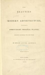 Cover of: The beauties of modern architecture
