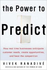 Cover of: The power to predict | Vivek RanadiveМЃ