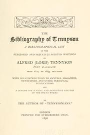 Cover of: The bibliography of Tennyson | Richard Herne Shepherd