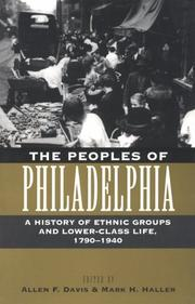 Cover of: The peoples of Philadelphia